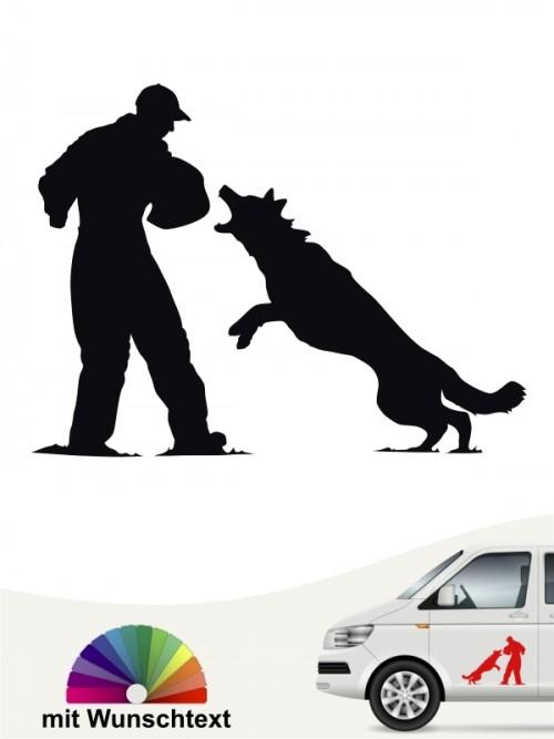 Sporthund Schutzhundesport Aufkleber anfalas.de