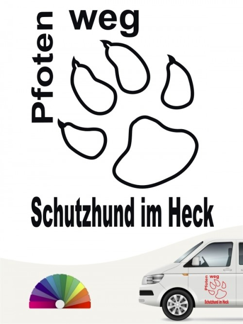 Pfoten weg Schutzhund im Heck Aufkleber anfalas.de