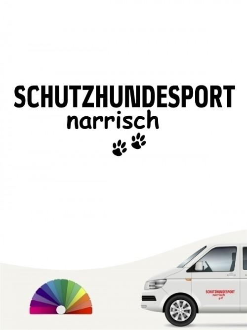 Hunde-Autoaufkleber Schutzhund narrisch von Anfalas.de