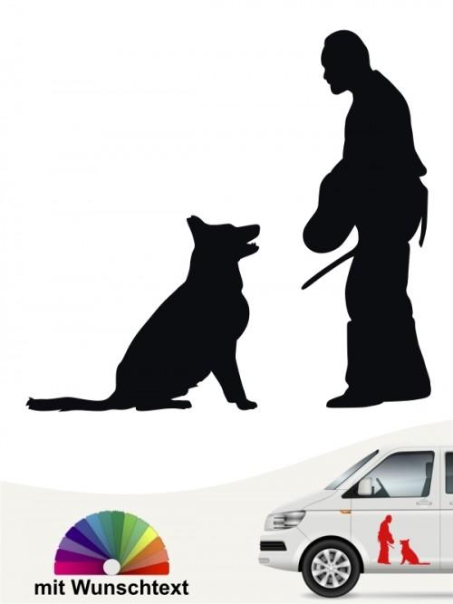 Schutzhunde Sport Aufkleber von anfalas.de