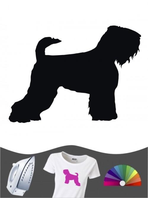 Schwarzer Terrier 1 - Bügelbild