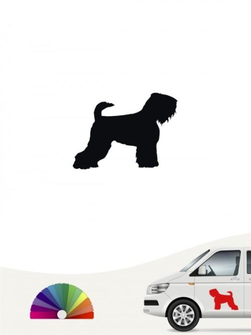 Schwarzer Terrier Heckscheibenaufkleber anfalas.de
