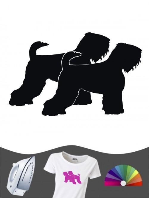 Schwarzer Terrier 2 - Bügelbild