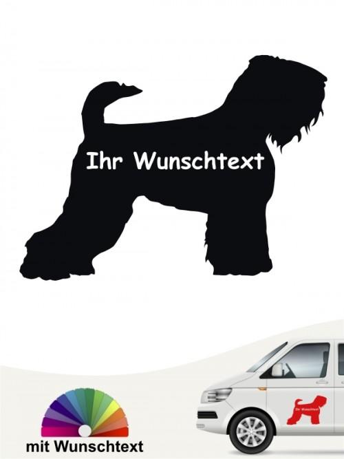 Schwarzer Terrier Silhouette Autosticker mit Wunschname anfalas.de