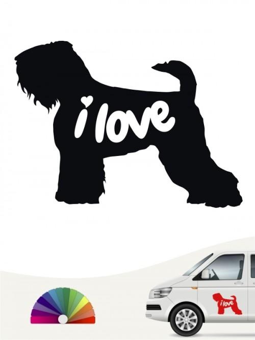 Schwarzer Terrier i love Aufkleber von anfalas.de