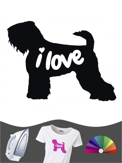 Schwarzer Terrier 43 - Bügelbild