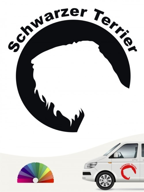 Schwarzer Terrier Hundeaufkleber von anfalas.de