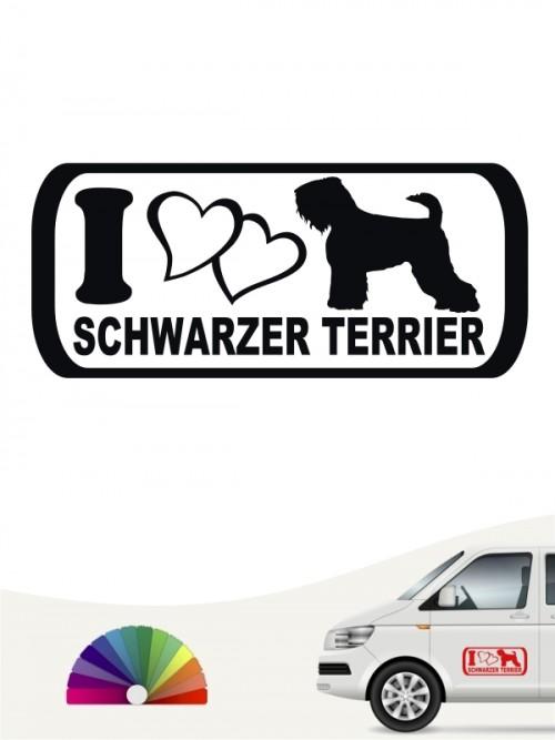 I Love Schwarzer Terrier Heckscheibenaufkleber anfalas.de