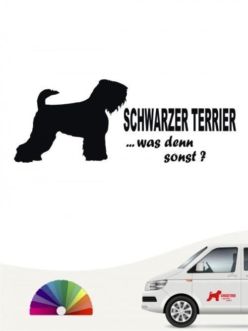 Schwarzer Terrier was denn sonst Autosticker anfalas.de