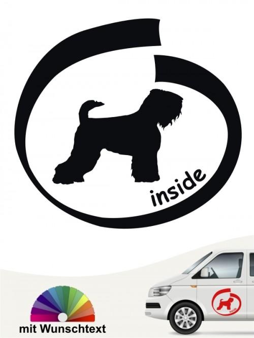 Schwarzer Terrier inside Hundeaufkleber mit Wunschname anfalas.de
