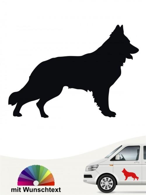 Schweizer Schäferhund Heckscheibenaufkleber mit Wunschtext anfalas.de