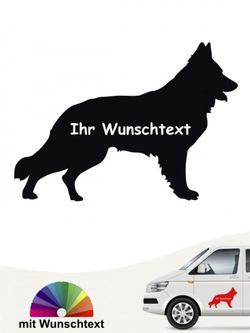 Schweizer Schäferhund Autosticker mit Wunschname anfalas.de