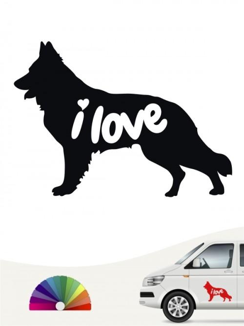 Schweizer Schäferhund i love Aufkleber von anfalas.de