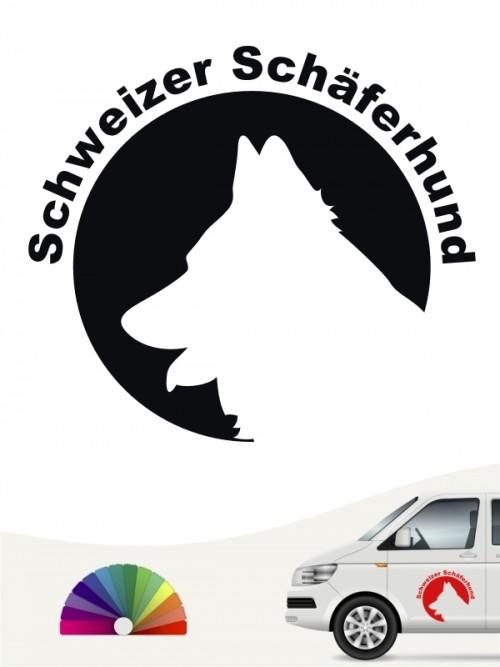 Schweizer Schäferhund Hundeaufkleber von anfalas.de