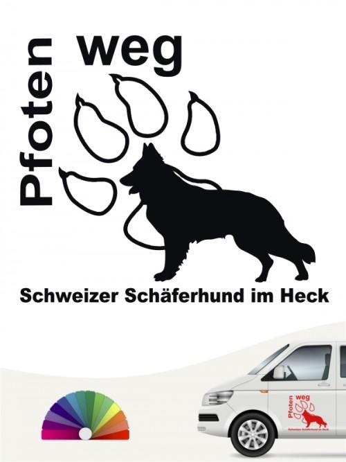 Pfoten weg Aufkleber Schweizer Schäferhund anfalas.de