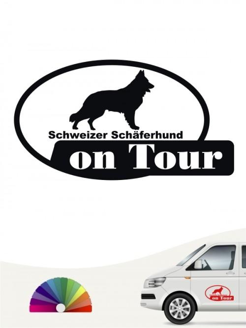 Schweizer Schäferhund on Tour Hundeaufkleber anfalas.de