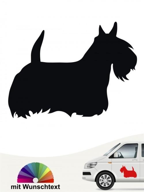 Scottish Terrier Autoaufkleber mit Wunschtext anfalas.de