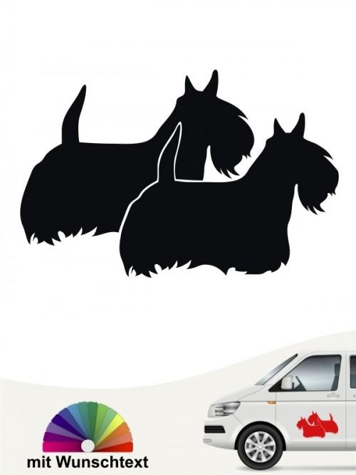 Hunde-Autoaufkleber Scottish Terrier 2 von Anfalas.de