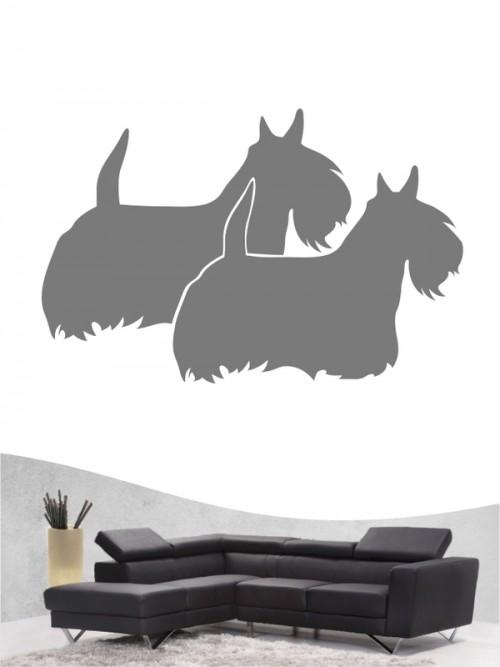 Scottish Terrier 2 - Wandtattoo