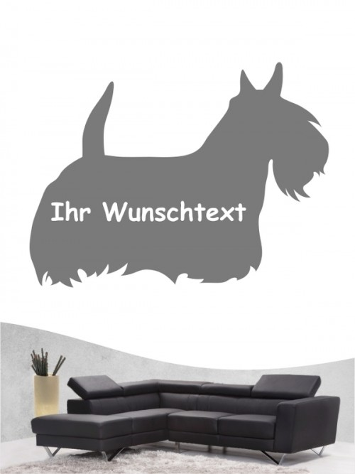 Scottish Terrier 3 - Wandtattoo