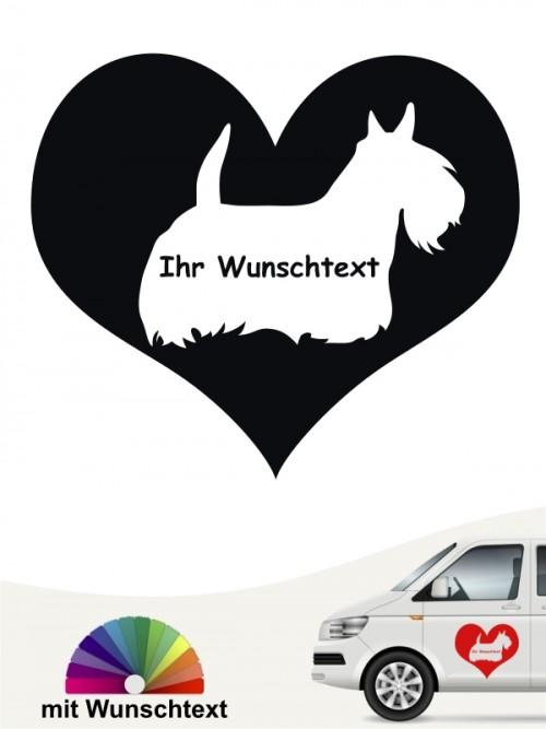 Scottish Terrier Herzmotiv mit Wunschname anfalas.de