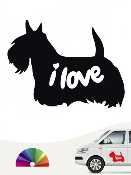 Scottish Terrier  i love Aufkleber von anfalas.de
