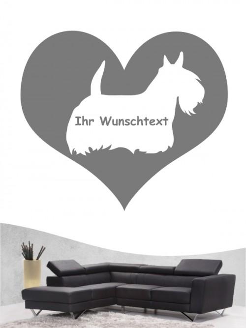 Scottish Terrier 4 - Wandtattoo