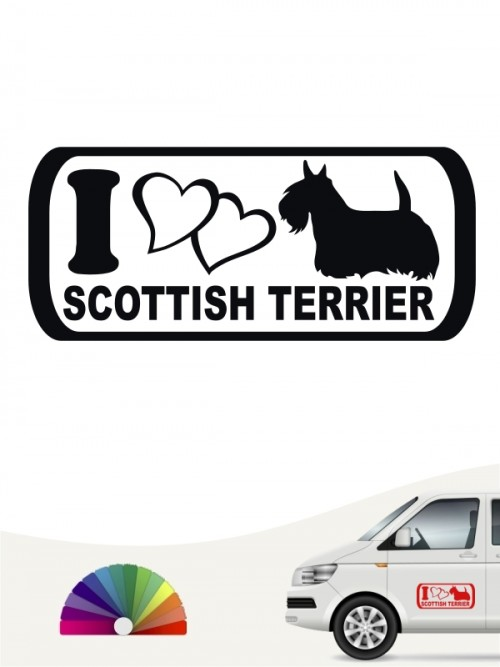 I Love Scottish Terrier Autosticker anfalas.de