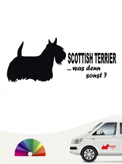 Scottish Terrier was denn sonst Aufkleber anfalas.de