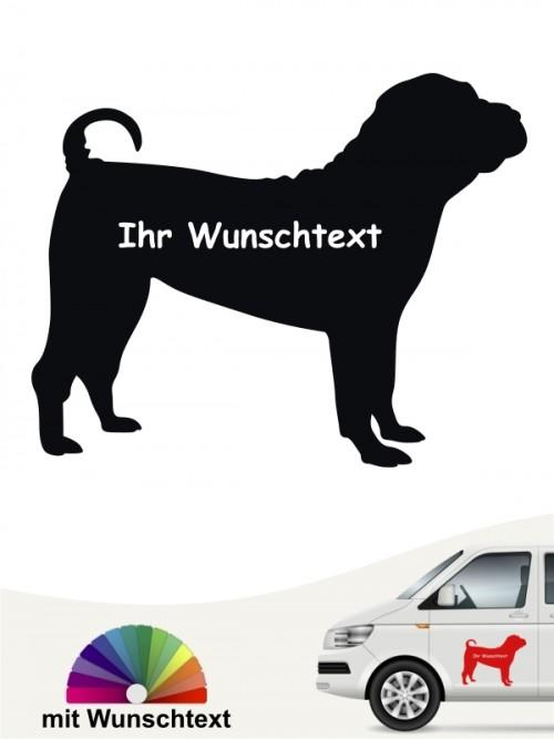 Shar Pei Hundeaufkleber mit Wunschname anfalas.de