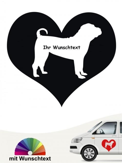 Shar Pei Herzmotiv mit Wunschname anfalas.de