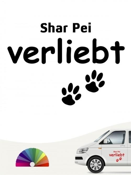 Hunde-Autoaufkleber Shar Pei verliebt von Anfalas.de