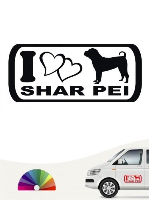 I Love Shar Pei Heckscheibenaufkleber anfalas.de