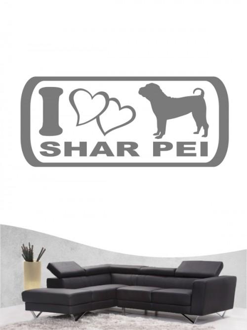 Shar Pei 6 - Wandtattoo