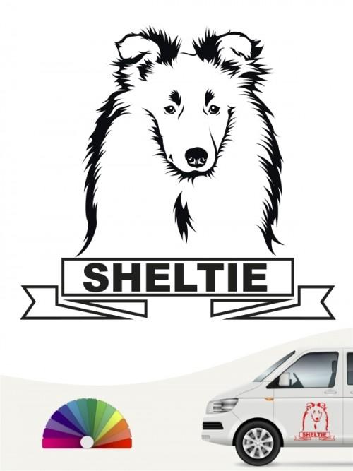 Hunde-Autoaufkleber Sheltie 15 von Anfalas.de