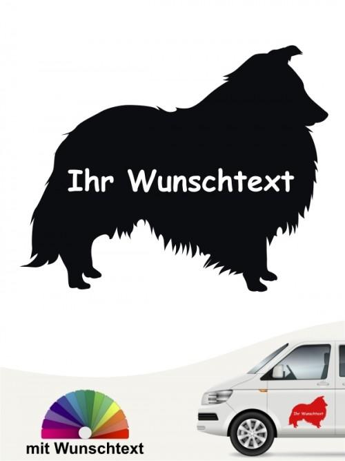 Sheltie Autoaufkleber mit Wunschname anfalas.de