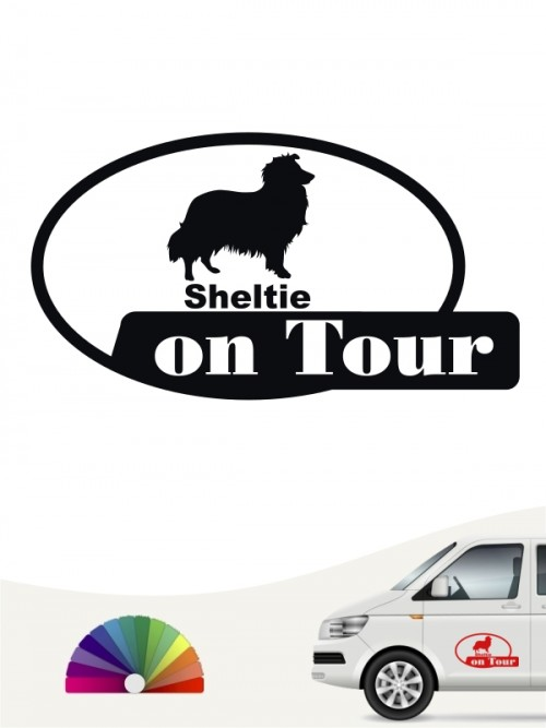 Sheltie on Tour Hundeaufkleber anfalas.de
