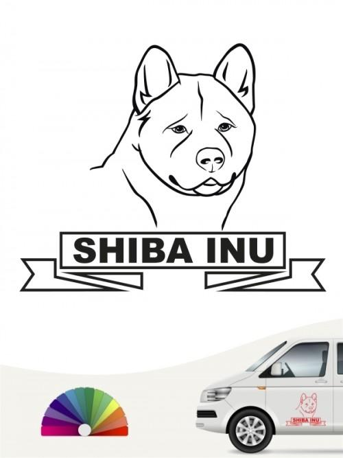 Hunde-Autoaufkleber Shiba Inu 16 von Anfalas.de