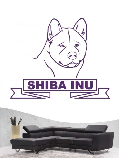 Hunde-Wandtattoo Shiba Inu 16 von Anfalas.de