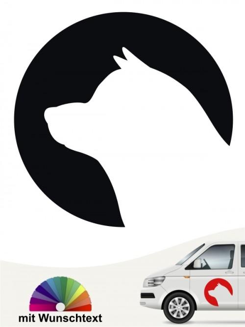 Shiba Inu Hundeaufkleber von anfalas.de