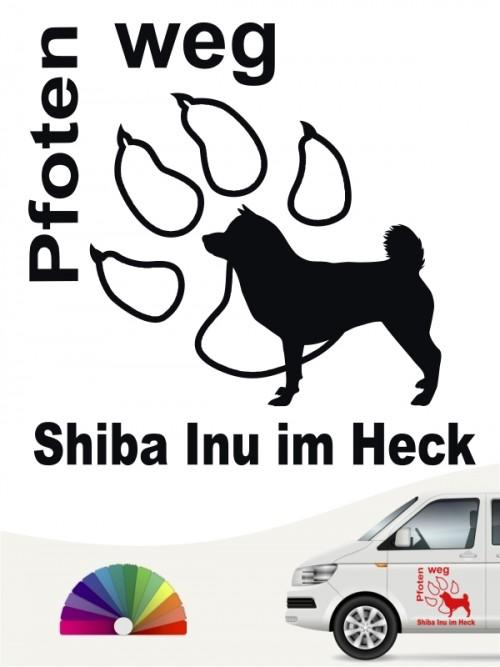 Pfoten weg Shiba Inu im Heck Sticker anfalas.de