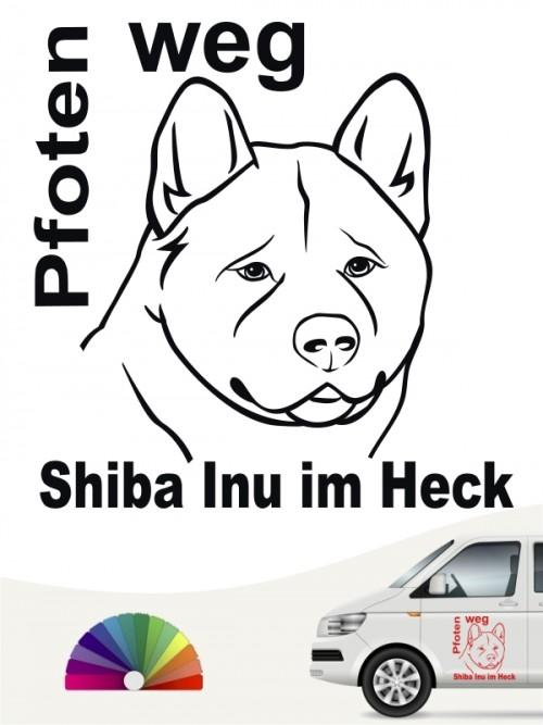 Shiba Inu Pfoten weg Aufkleber anfalas.de