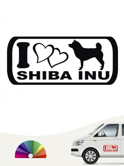 I Love Shiba Inu Heckscheibenaufkleber anfalas.de
