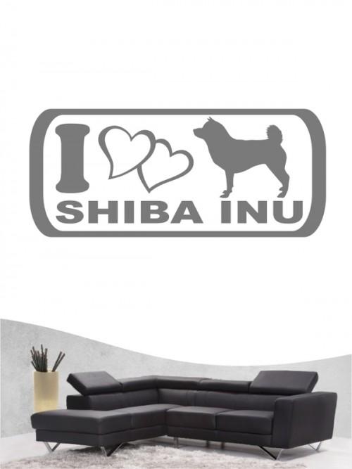 Shiba Inu 6 - Wandtattoo