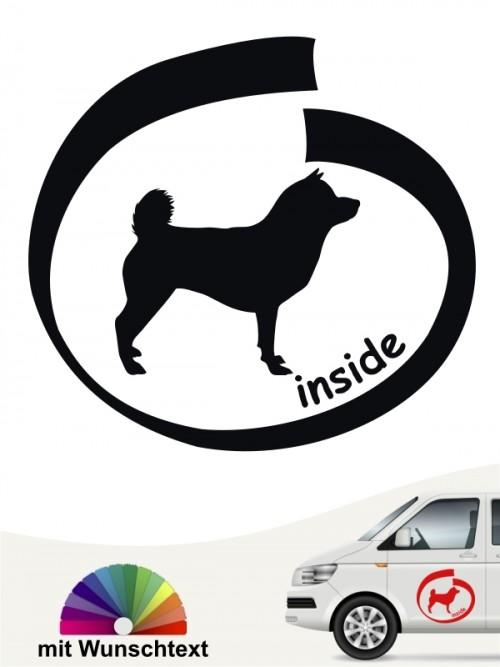 Inside Shiba Inu Hundeaufkleber mit Wunschtext anfalas.de