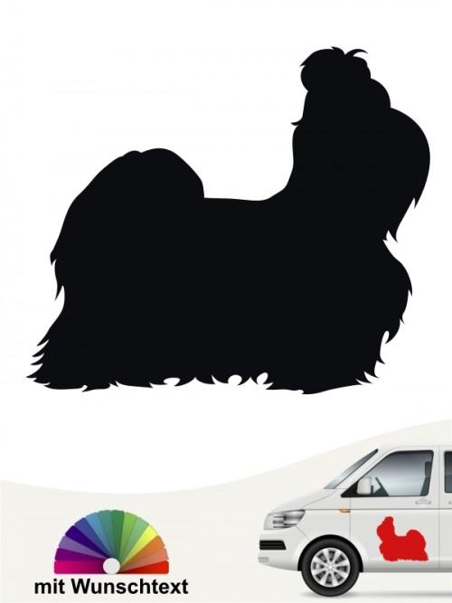 Shih Tzu Hundeaufkleber mit Wunschtext anfalas.de