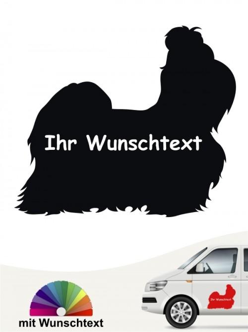 Shih Tzu Silhouette Sticker mit Wunschname anfalas.de