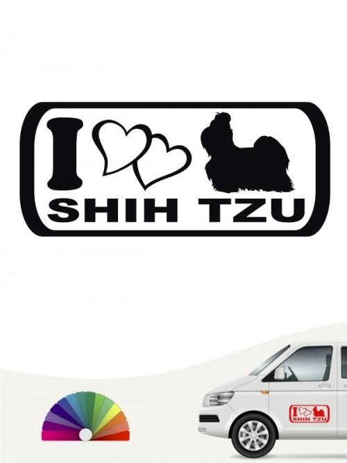 I Love Shih Tzu Heckscheibenaufkleber anfalas.de