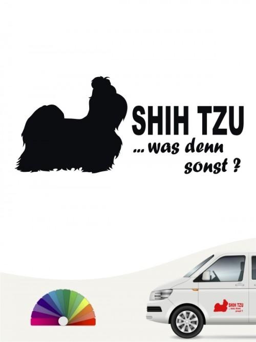 Shih Tzu was denn sonst Aufkleber anfalas.de
