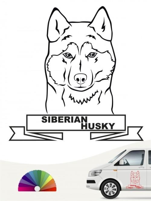 Hunde-Autoaufkleber Siberian Husky 16 von Anfalas.de